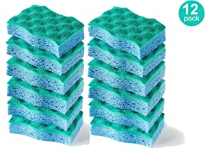 O-Cedar Multi-Use Scrunge Scrub Sponge (Pack of 12)