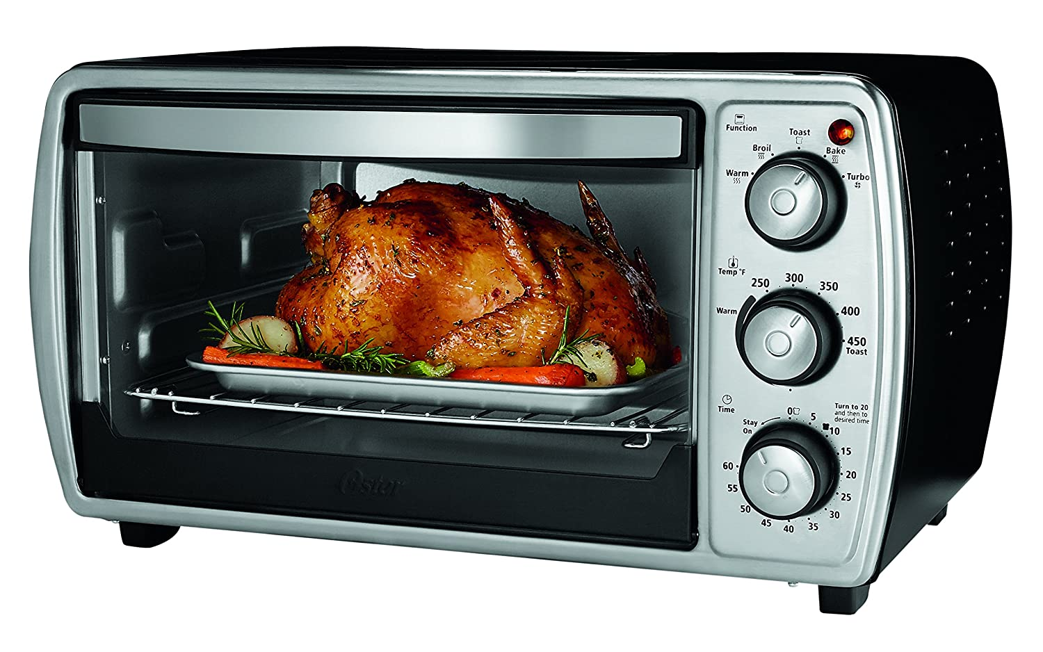 Oster 6-Slice Countertop Convection Toaster Oven, Silver (TSSTTVCGBK)