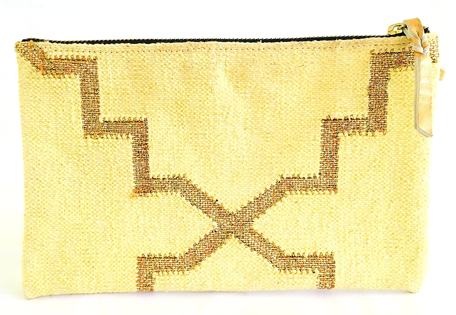DS Luxury Living Handwoven Cotton Dhurries Handmade Purse Handbag Pouch Wallet Phone Purse for Men and Women