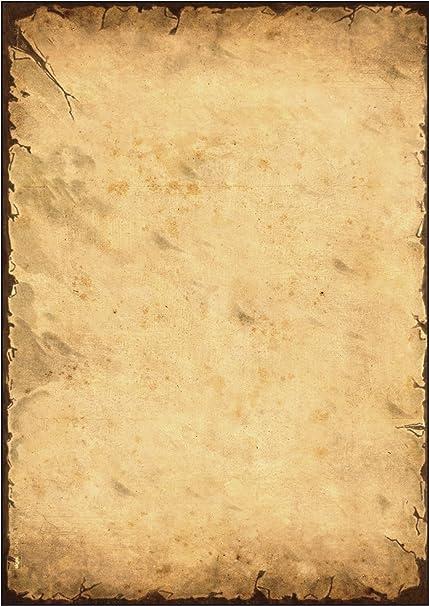 SIGEL DP240 Papel de cartas, 21 x 29,7 cm, 90g/m², Pergamino, beige, 50 hojas