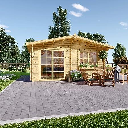 Chaletdejardin.fr Caseta de jardín de Madera WISSOUS 25 m2 (5 x 5), 34 mm de Grosor de Pared: Amazon.es: Jardín
