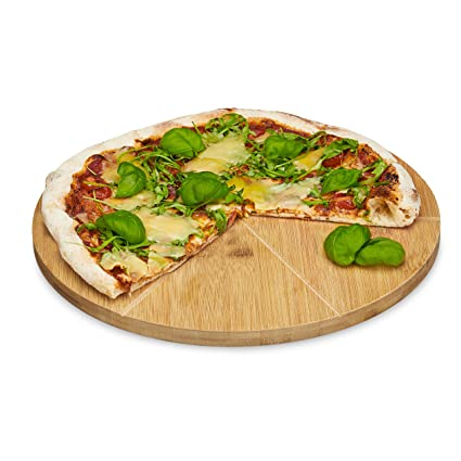 Relaxdays - Plato para Pizza (bambú 33 cm diámetro ca4f65b118ac