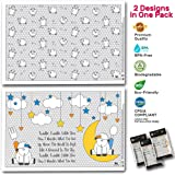 Super Strong Disposable Placemats Table Topper 60 Mats for Kids Toddlers Baby Children perfect use as restaurants dinning Eco Friendly BPA FREE Sticks on Table Avoid Germs Free 2 attractive designs!
