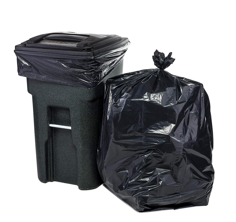 Bolsas de basura de 64 galones para Toter, color negro, 1,5 ...