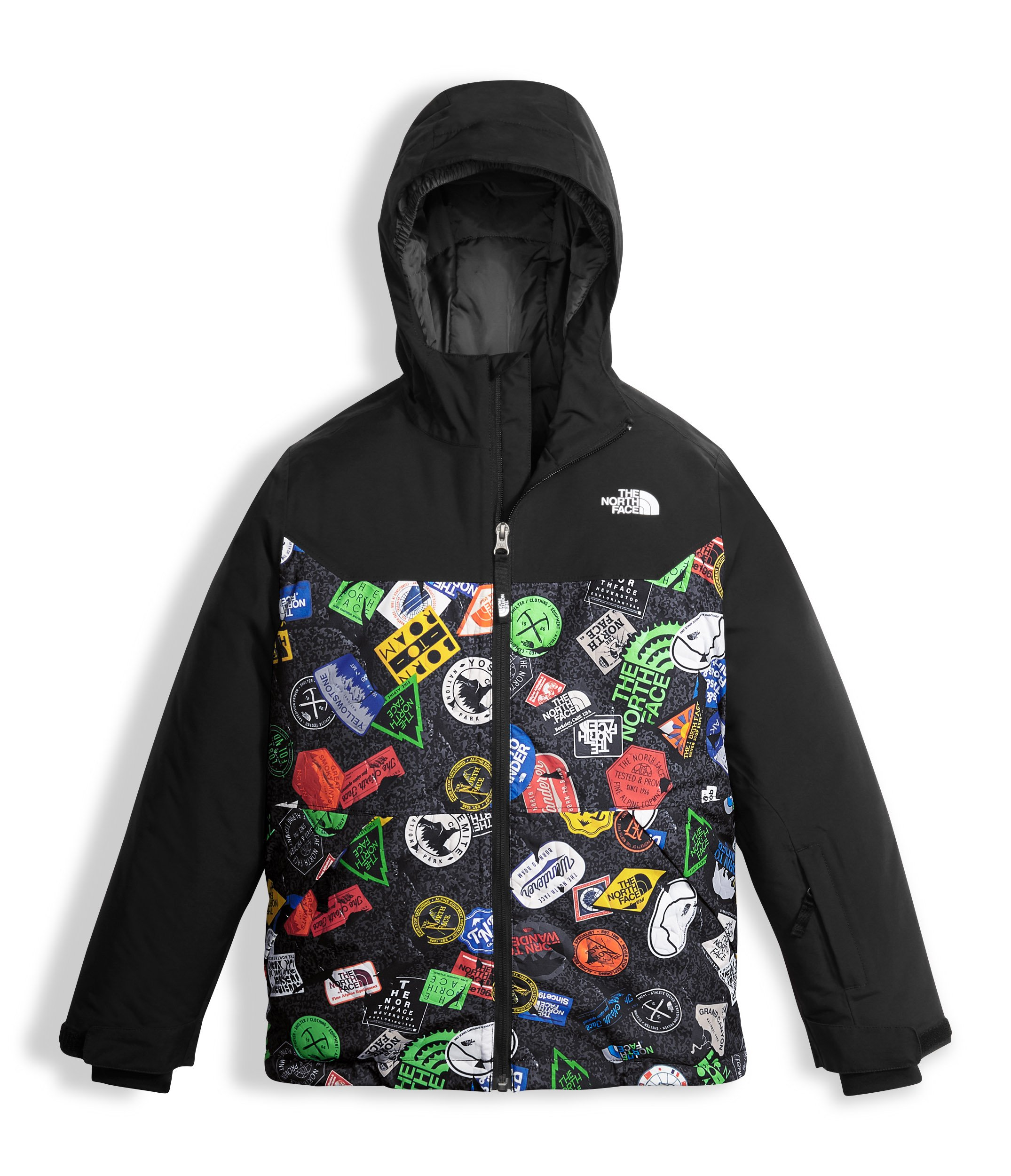 The North Face Boy's Brayden Insulated Jacket TNF Black Print Size Small by The North Face