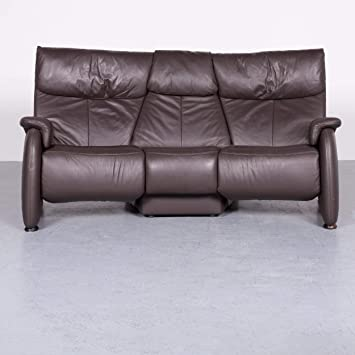 Himolla Trapez Sofa Braun Leder Couch Mit Funktion Echtleder 7185