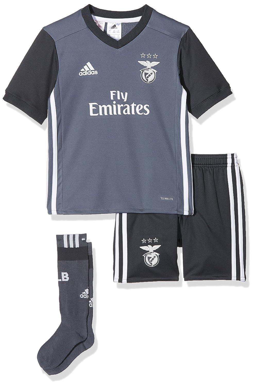 Adidas SL Benfica a Mini, Divisa da Calcio Unisex Bambini, Grigio (Onix/Griosc), 92 B31020