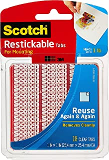 product image for Scotch Restickable Tabs, 1-in x 1-in, Clear, 18-Tabs (R100)