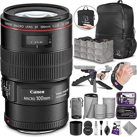 Amazon.com: Canon EF 100 mm f/2.8L IS USM Macro Lente w ...
