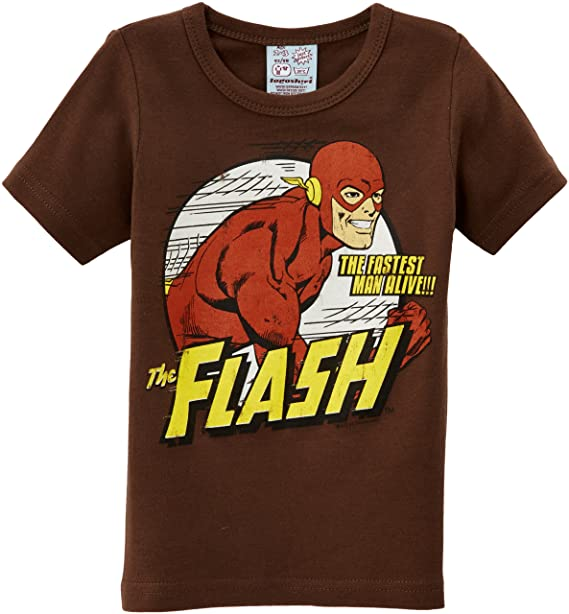 30c13e356 Logoshirt - Camiseta de Flash con Estampado con Cuello Redondo de Manga  Corta para niño