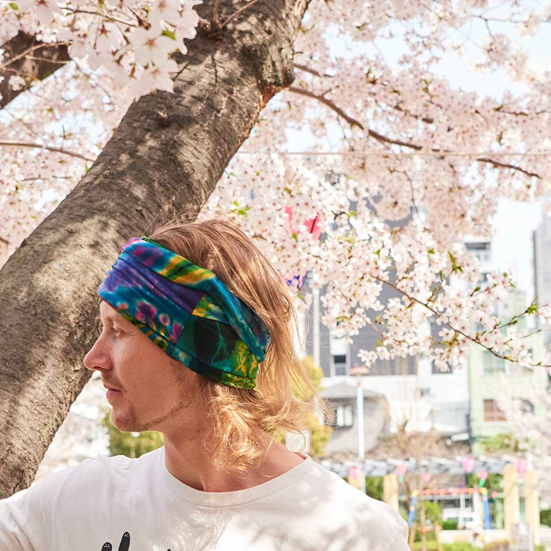 Casualbox Tie-Dye Headband Bandana Boho Hippie Retro Flower psychedelic 70s