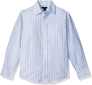 Tommy Hilfiger Boys Double Twill Stripe Shirt Dress Shirt