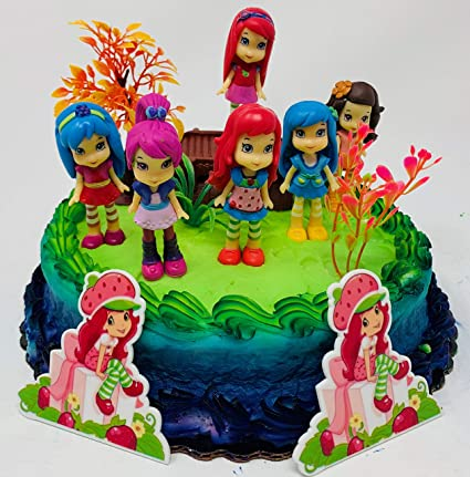 Phenomenal Amazon Com Strawberry Shortcake And Friends Birthday Cake Topper Personalised Birthday Cards Cominlily Jamesorg