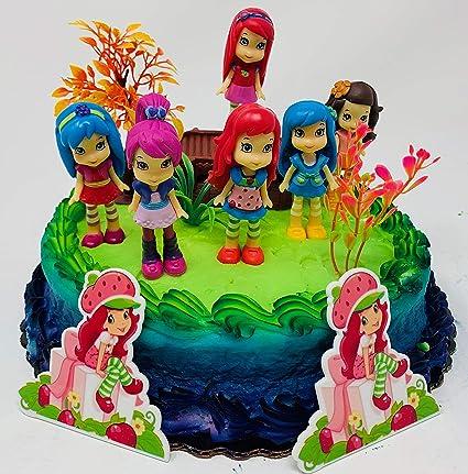 Strawberry Shortcake Birthday Cake.Strawberry Shortcake And Friends Birthday Cake Topper