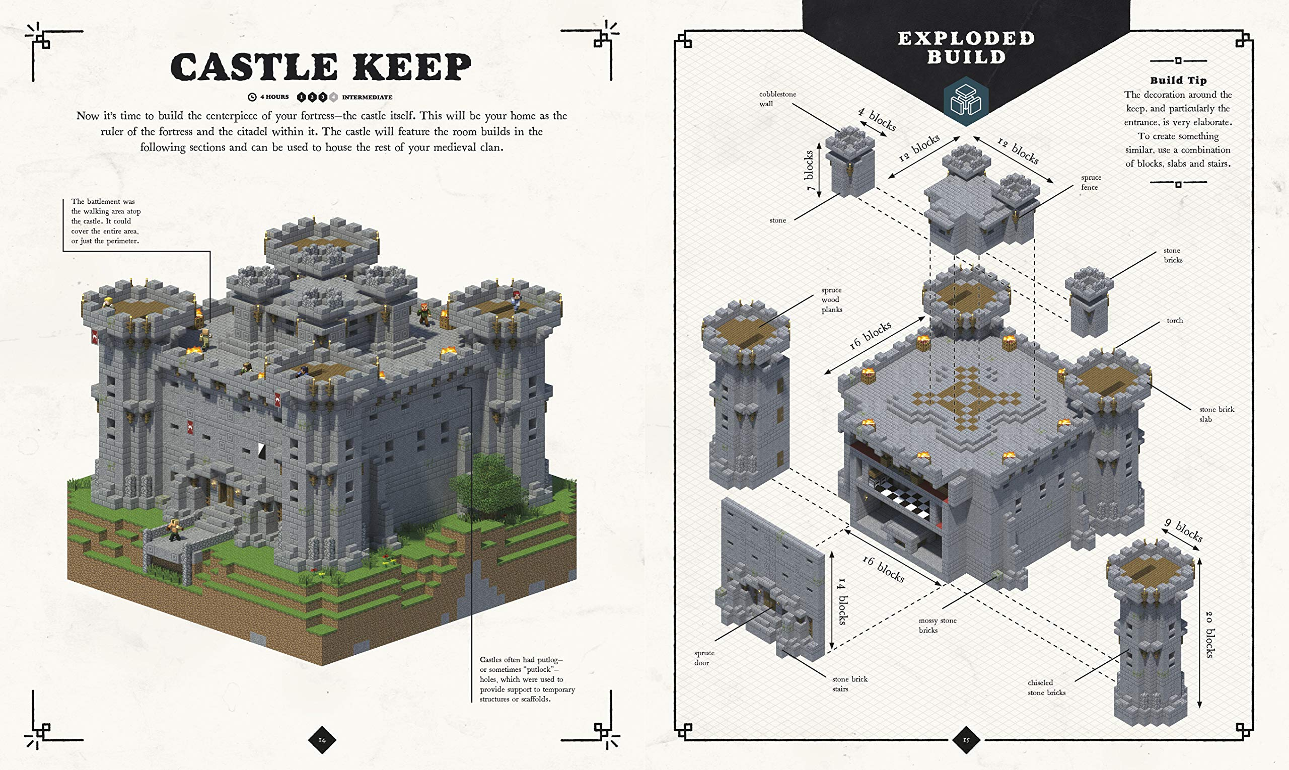 Amazonfr Minecraft Exploded Builds Medieval Fortress