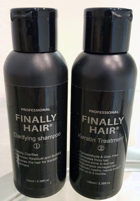 Keratin Straightening Smoothing Treatment & Clarifying Shampoo Kit 200ml (soft version 2) Finally Hair Corporation