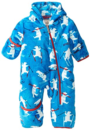 f803c81e2f35 Hatley Baby Boys 0-24m kiing Polar Bears Fleece Bundler Snowsuit ...