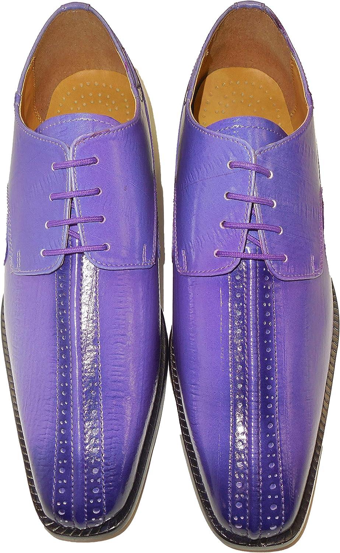 Liberty LS914 Mens Purple Violet Color Fade Fancy Oxford Dress Shoes