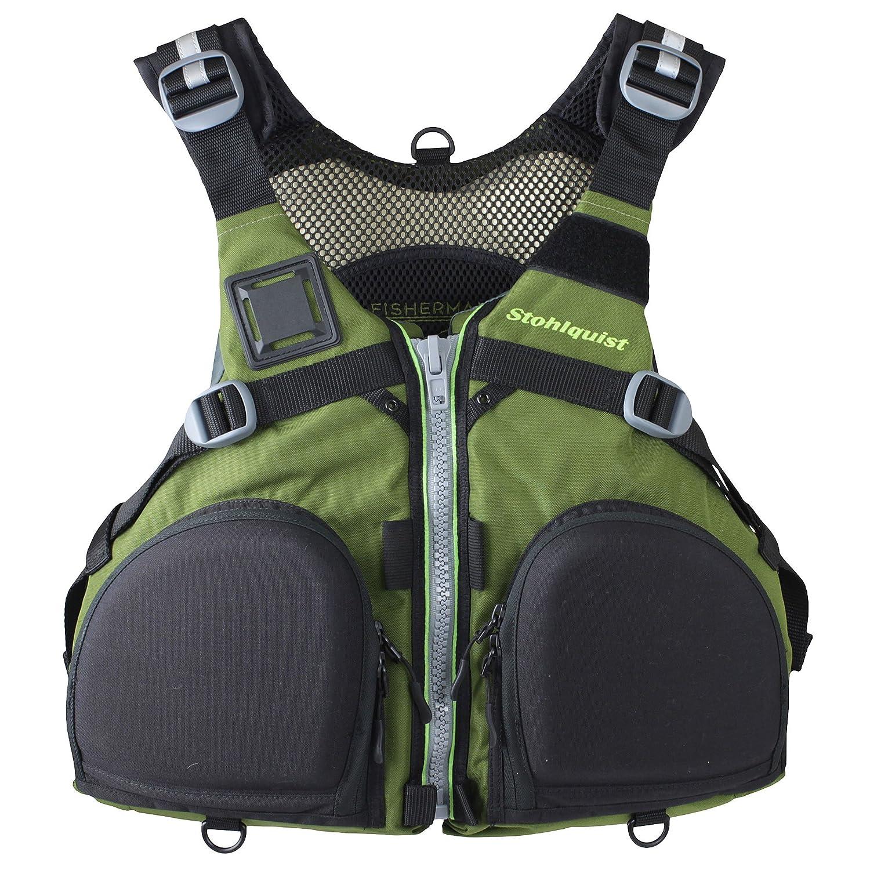 Stohlquist Fisherman Lifejacket ( PFD ) XX-Large オリーブグリーン B079Y8K8NV