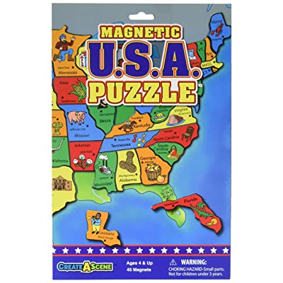Create-A-Scene Magnetic Playset - USA Puzzles: Toys & Games