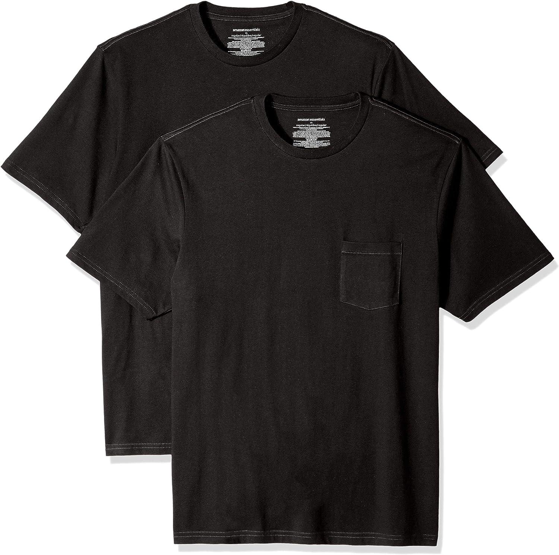 Essentials 2-Pack Regular-fit Crew Pocket T-Shirt