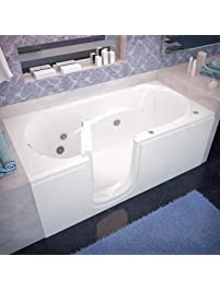 Genial Spa World Venzi Vz3060silwh Rectangular Whirlpool Walk In Bathtub, 30x60,  Left Drain,