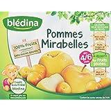 Blédina Pots Pommes Mirabelles 4x130 g - Lot de 3