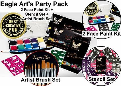 Amazon Com Award Winning Eagle Art Face Paint Party Pack 2 Face