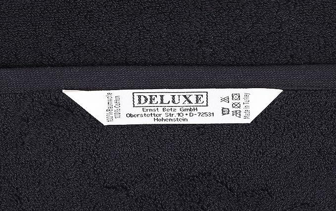 Betz 2 Unidades alfombras de ba/ño tama/ño 50x70cm 100/% Algodon alfombriila ba/ño Serie Premium Calidad 650 g//m/² Disponible en 10 Colores Color Antracita