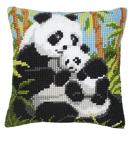 Amazon.com: Panda y Cub parte delantera de cojín – Kit de ...