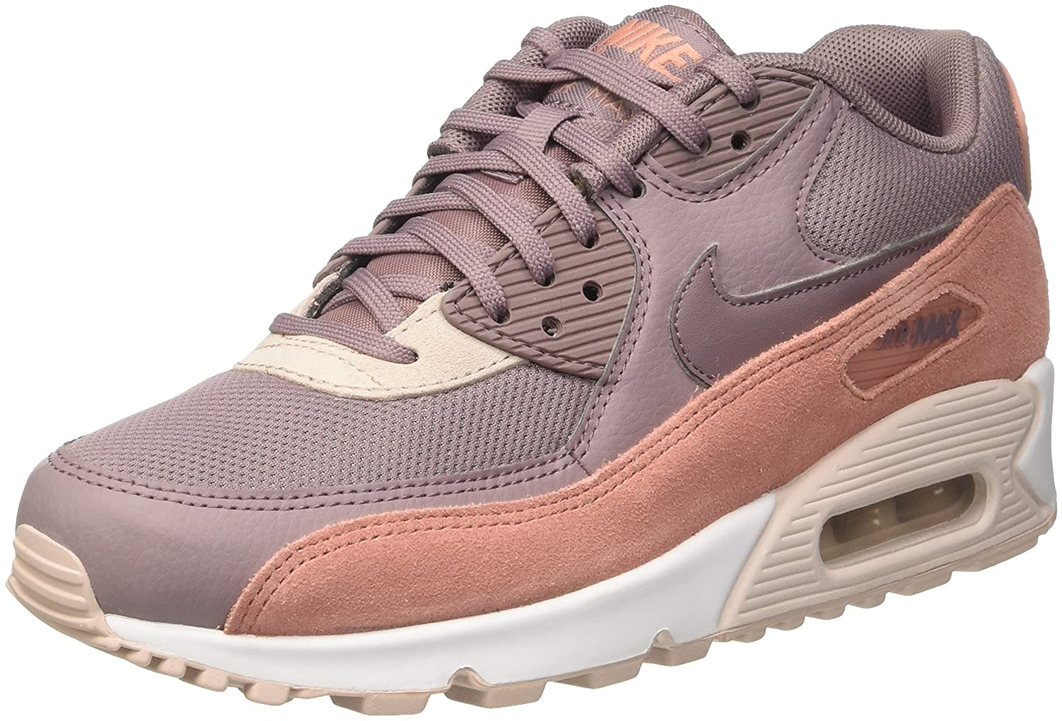 Nike W Air Max 90 325213 611 Red Stardust Taupe Grey