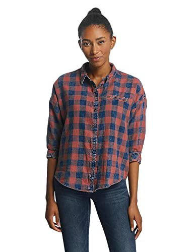 Only Mujeres Ropa Superior/Blusa/Túnica onlElif 3/4 Sleeve Check Denim