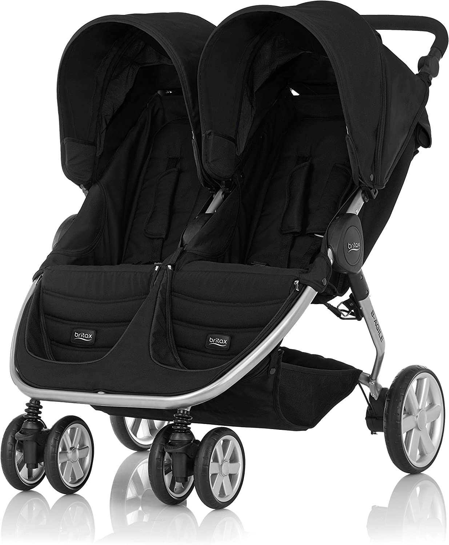 Britax B-Agile Doble - Silla de paseo gemelar, color Cosmos Black ...