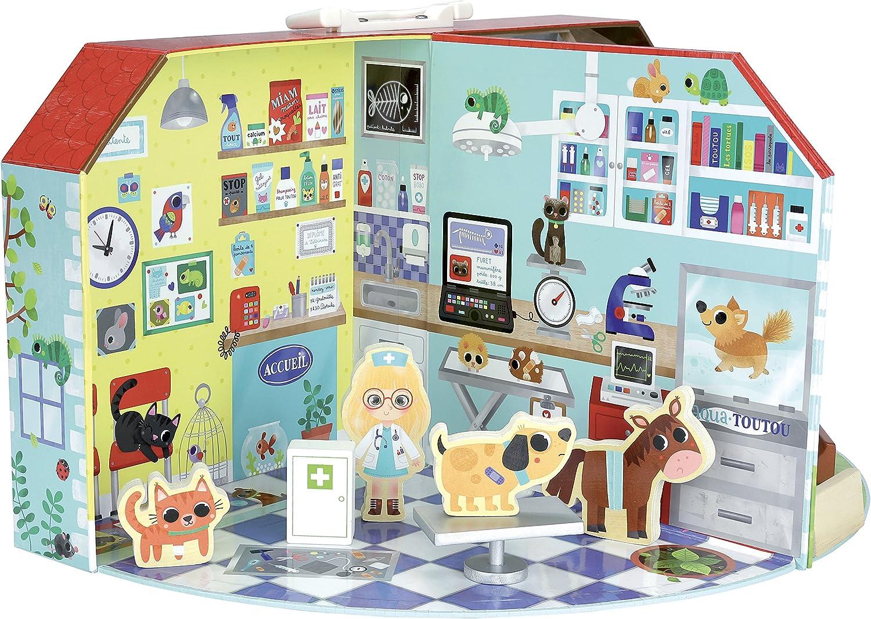 Vilac Vilac6315 Veterinary Clinic in Suitcase Multi-Color