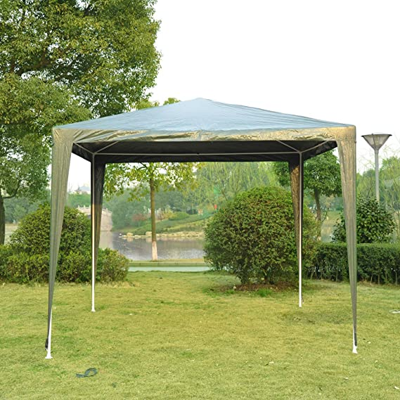 Jardín Gazebo Marquee resistente, 2, 7 x 2, 7 m-Green – homcom 2, 7 m X 2, 7 m jardín carpa boda toldo al aire libre verde.: Amazon.es: Jardín