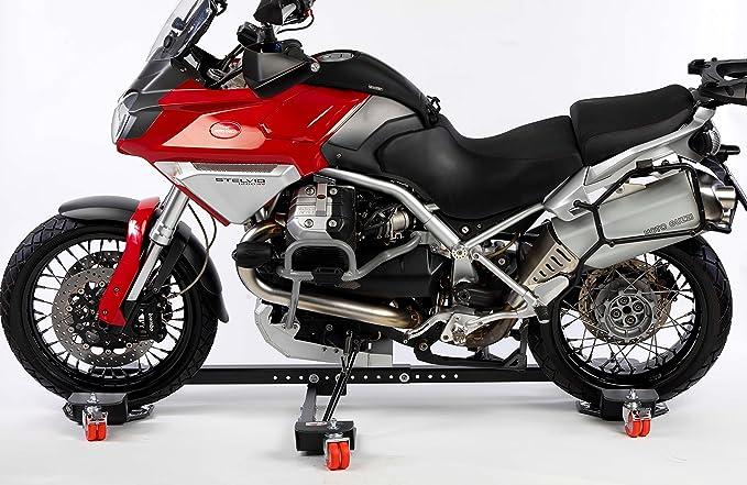 Plataforma para maniobrar Moto Accosta Moto para maximoto. Coche para Moto con caballete lateral: Amazon.es: Coche y moto