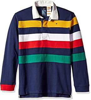 d09eaa586d0 Amazon.com: Tommy Hilfiger Adaptive Boys' Rugby Shirt with Full ...