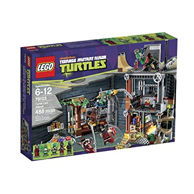 LEGO Ninja Turtles Turtle Lair Attack 79103: Toys & Games
