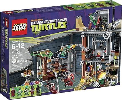 Amazon.com: LEGO Ninja Turtles Turtle Guarida Attack 79103 ...