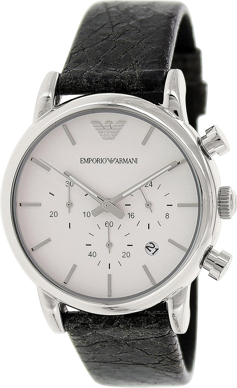 Emporio Armani AR1810 Hombre Negro Relojes de pulsera Nuevo