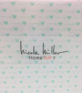 Nicole Miller Mint Green Hearts and Arrows Full Sheet Set