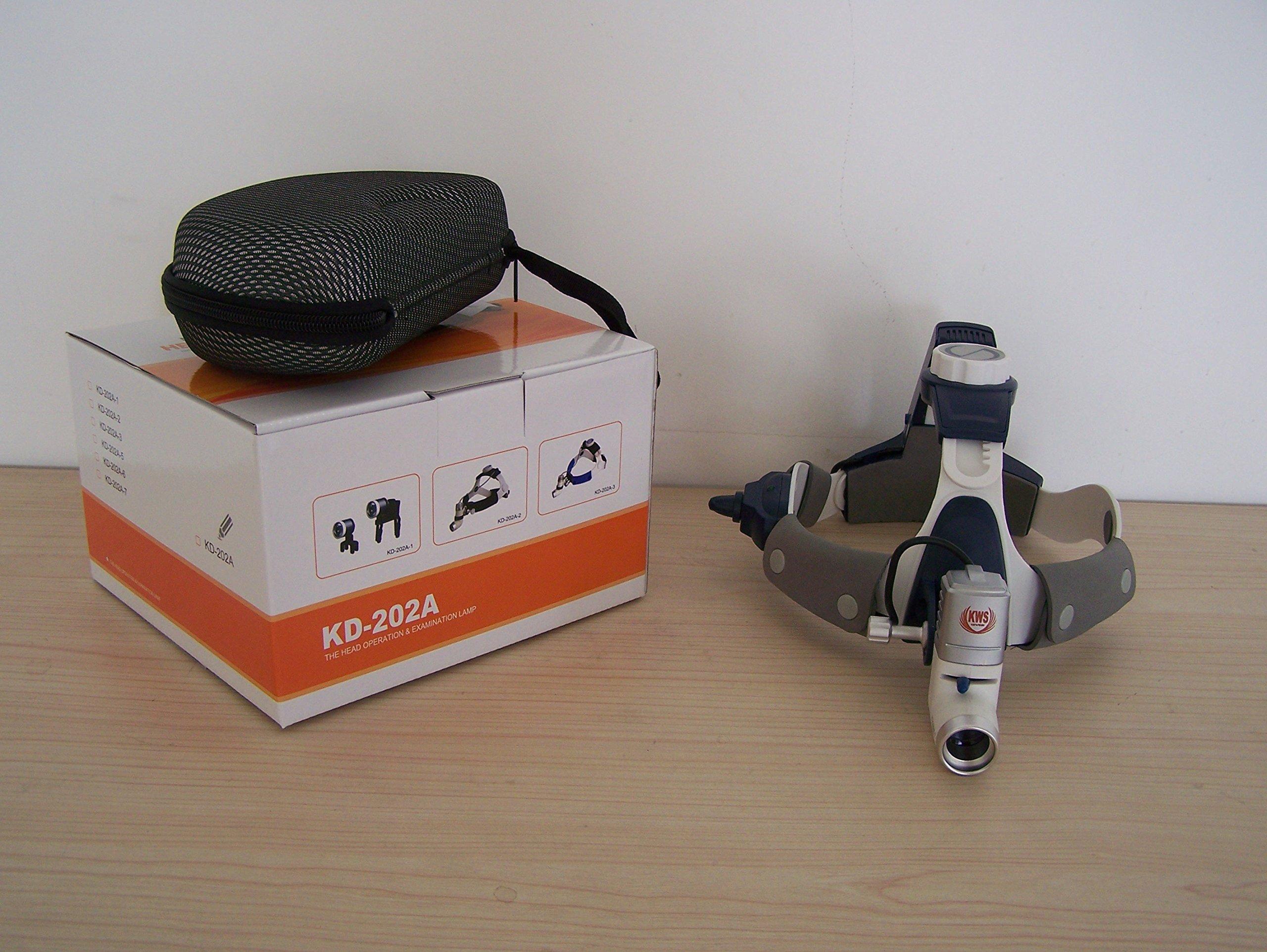 NSKI Dental 3.5X420mm Surgical Binocular Loupes FD-502G + 5W LED Headlight KD202A-7 Headband Stlye