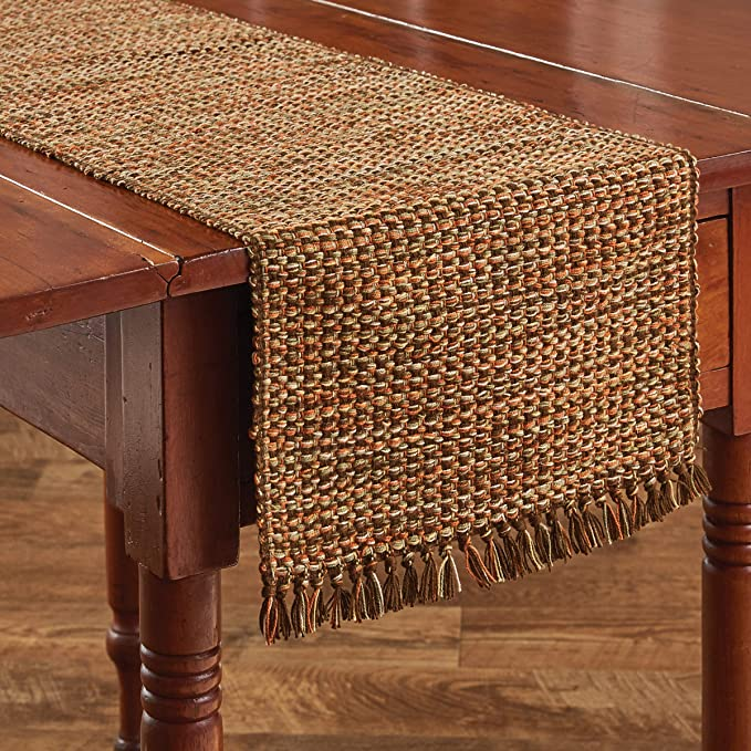 "Park Designs Basketweave Table Runner 36/""L Rain"