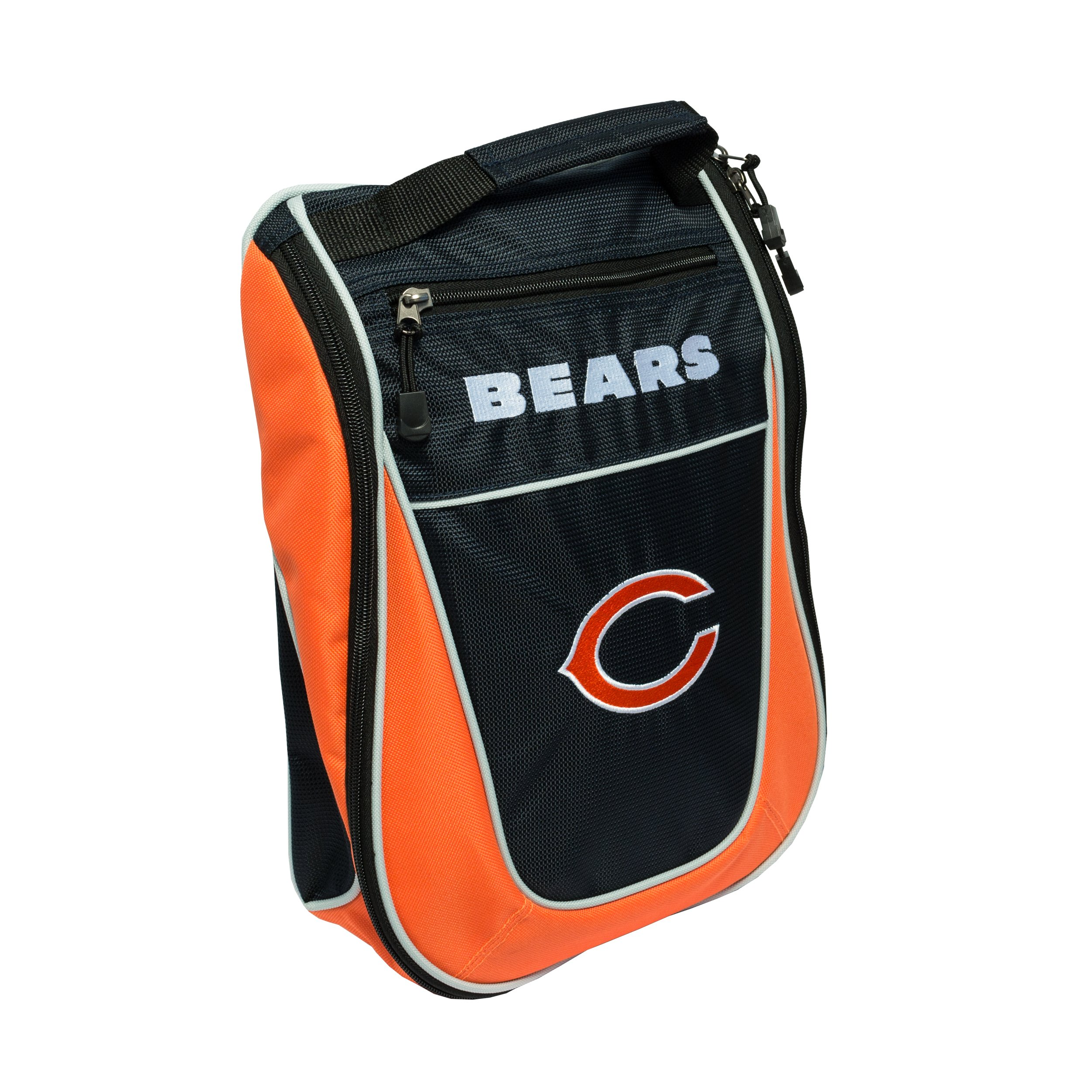 Team Golf NFL Chicago Bears Travel Golf Shoe Bag, Reduce Smells, Extra Pocket for Storage, Carry Handle by Team Golf