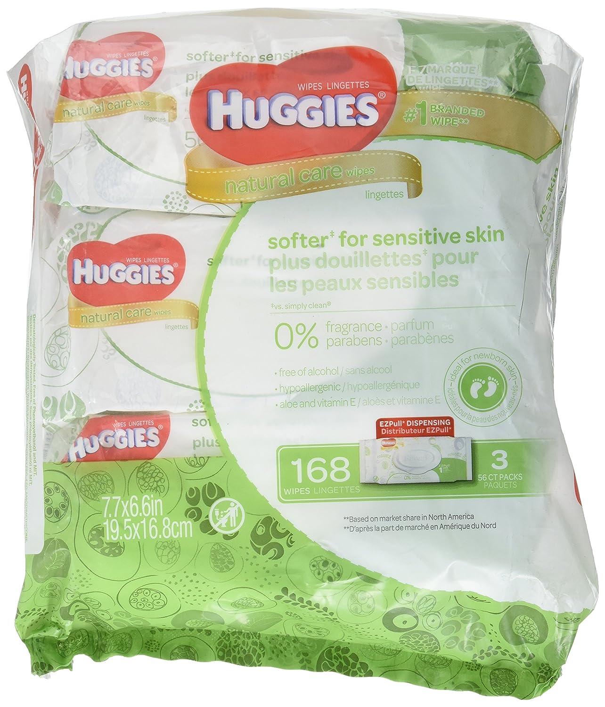 HUGGIES Natural Care Fragrance Free Baby Wipes rft Bundle 3Pk 56 2.700 Lb