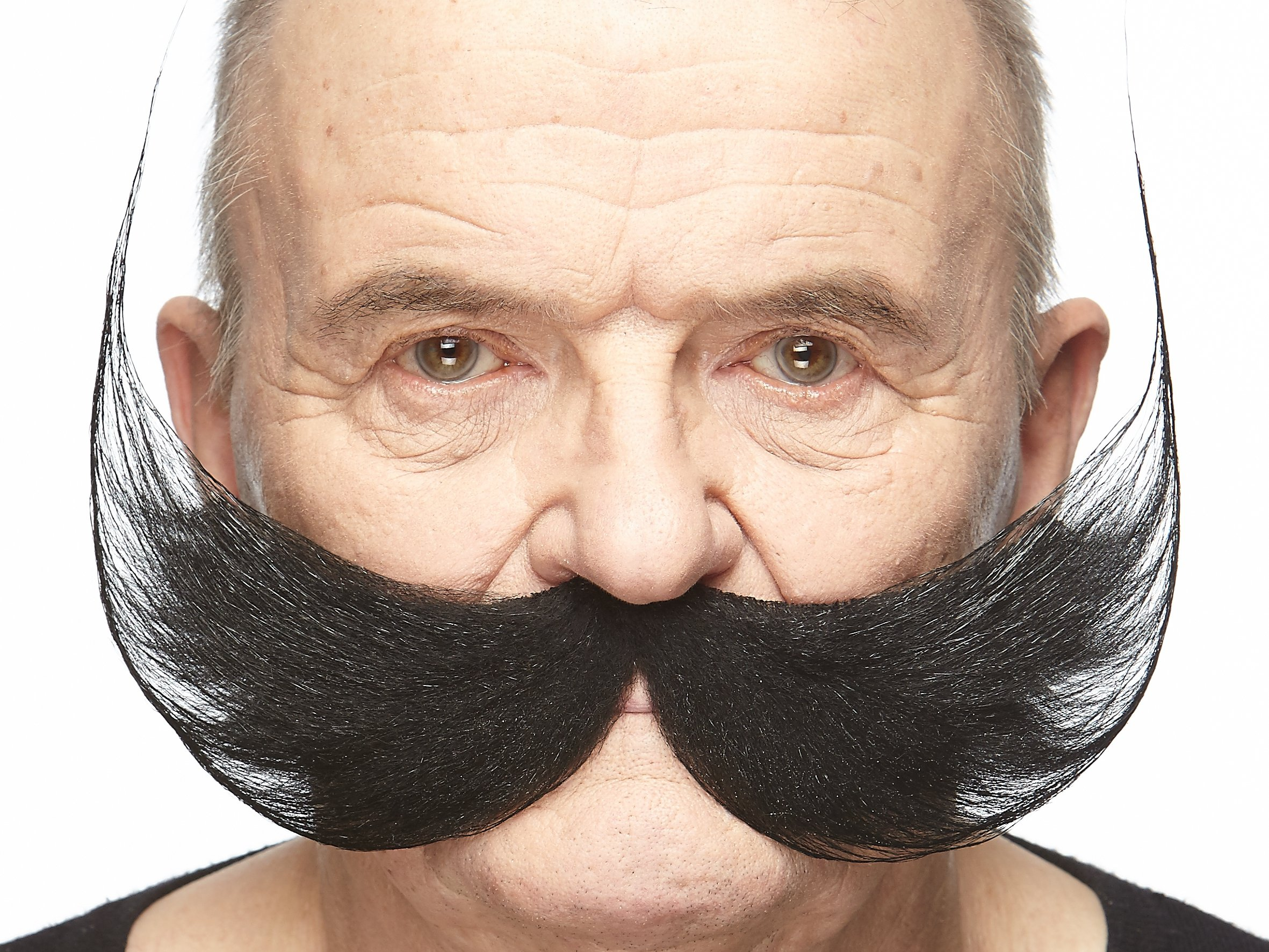 Mustaches Self Adhesive, Novelty, Fake Fisherman's, Black Color