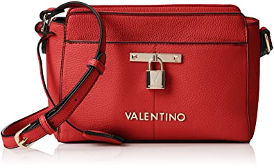 fec0c1dc5 Valentino by Mario Valentino Womens VBS2BK04 Currys Cross-Body Bag Red  (ROSSO)