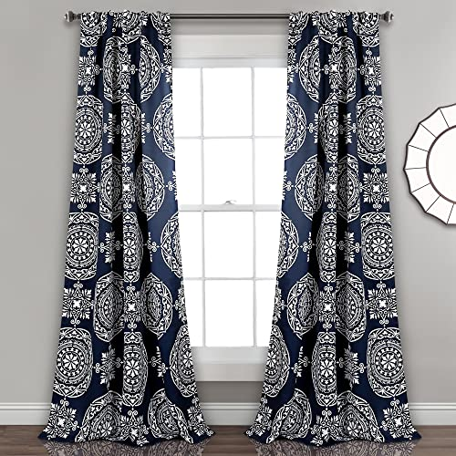 Lush Decor Kamren Medallion Room Darkening Window Curtain Panel Pair