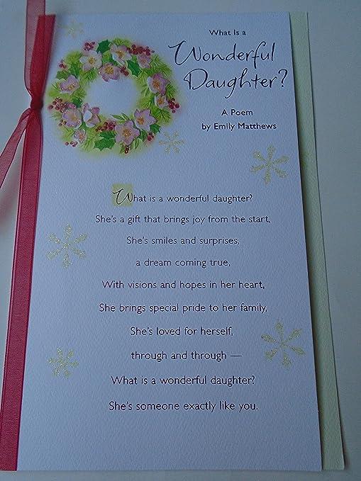 Ciò Che è Una Figlia Meravigliosa Poesia Emily Matthews Merry