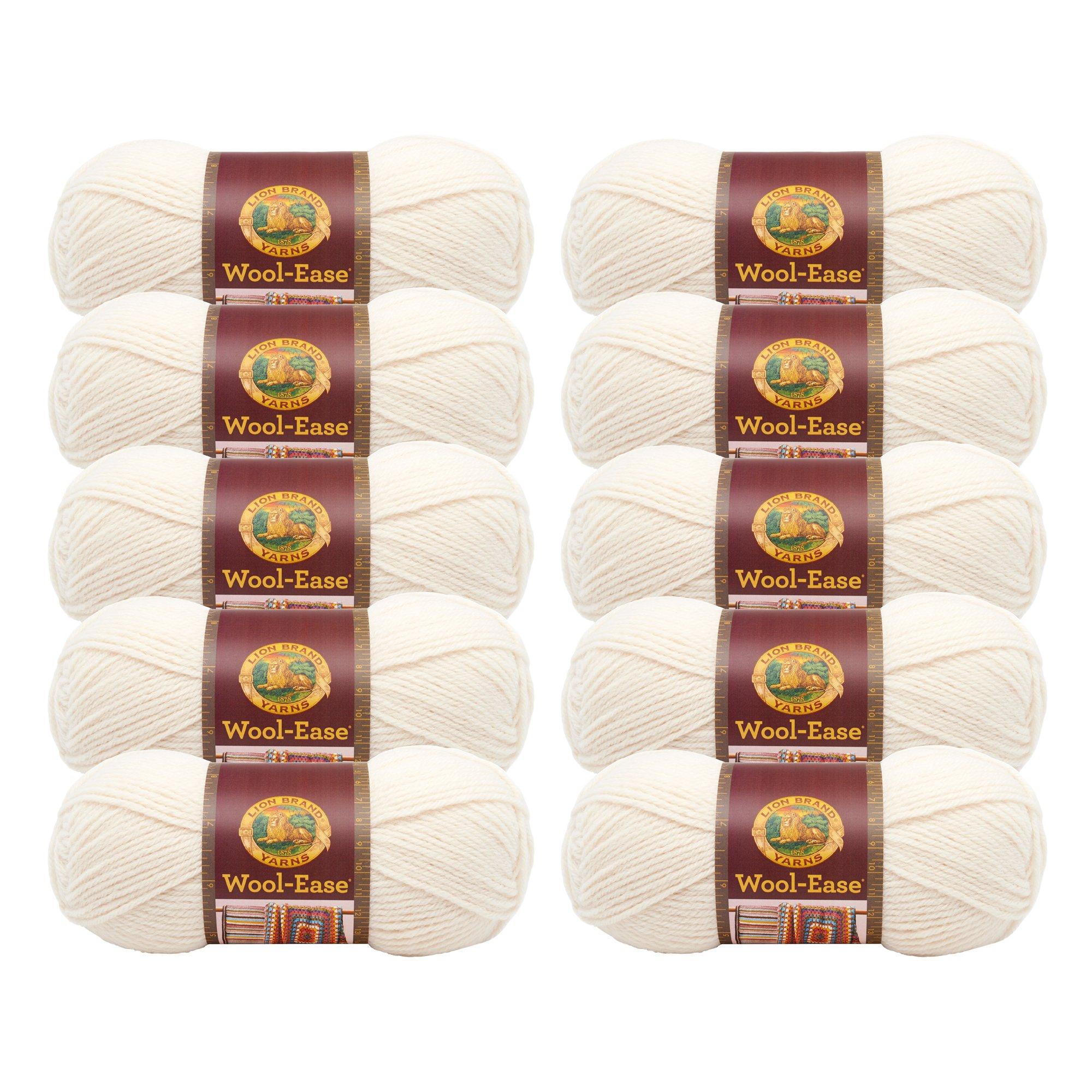 (10 Pack) Lion Brand Yarn 620-099 Wool-Ease Yarn, Fisherman